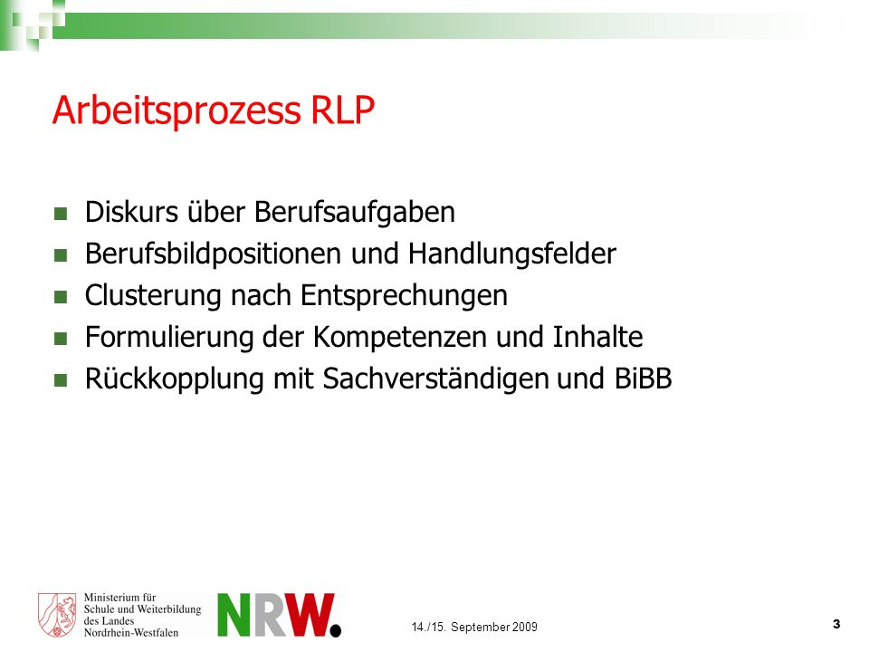 Arbeitsprozess RLP Diskurs über Berufsaufgaben