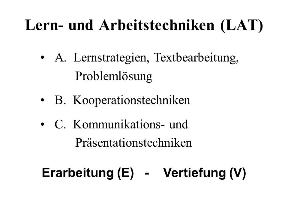 Lern- und Arbeitstechniken (LAT)