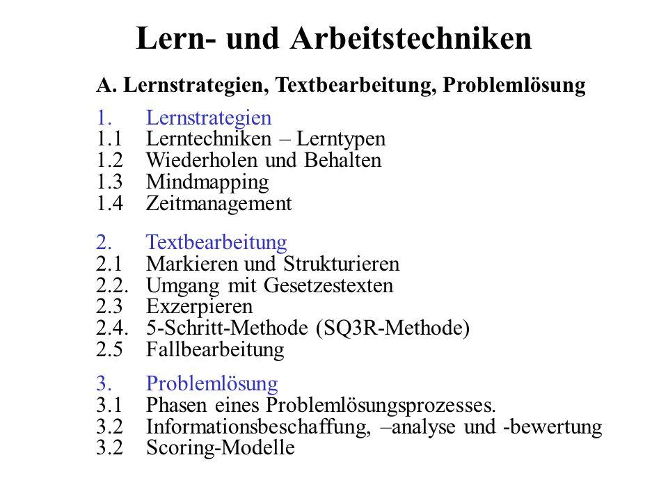 Lern- und Arbeitstechniken