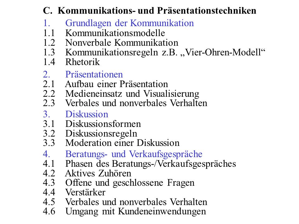 C. Kommunikations- und Präsentationstechniken