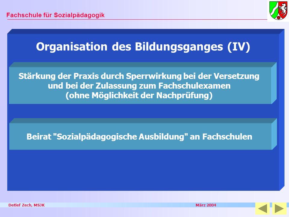 Organisation des Bildungsganges (IV)