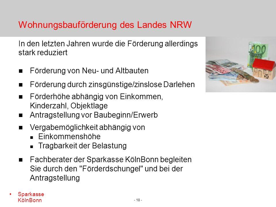 Wohnungsbauförderung des Landes NRW