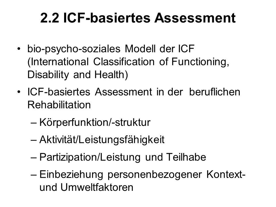 2.2 ICF-basiertes Assessment