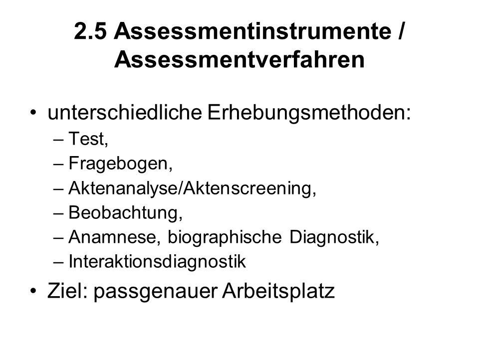 2.5 Assessmentinstrumente / Assessmentverfahren