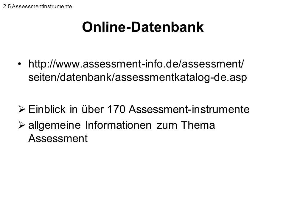 2.5 Assessmentinstrumente