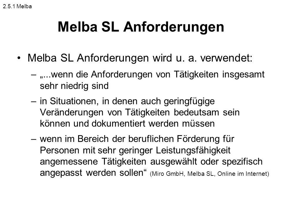 Melba SL Anforderungen