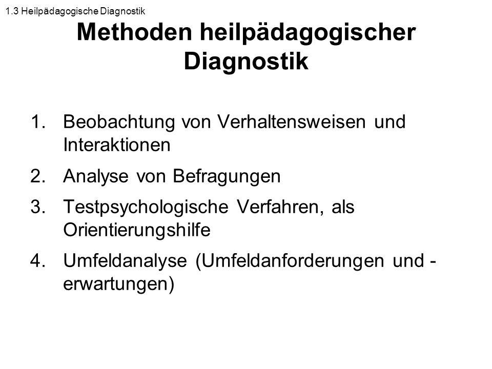 Methoden heilpädagogischer Diagnostik
