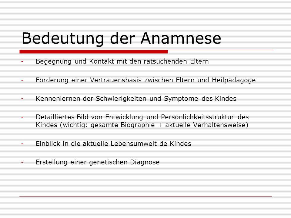 Bedeutung der Anamnese