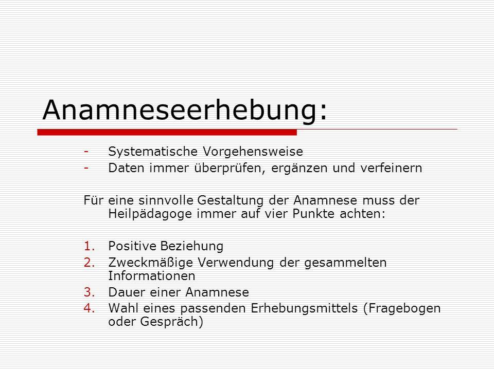 Anamneseerhebung: Systematische Vorgehensweise