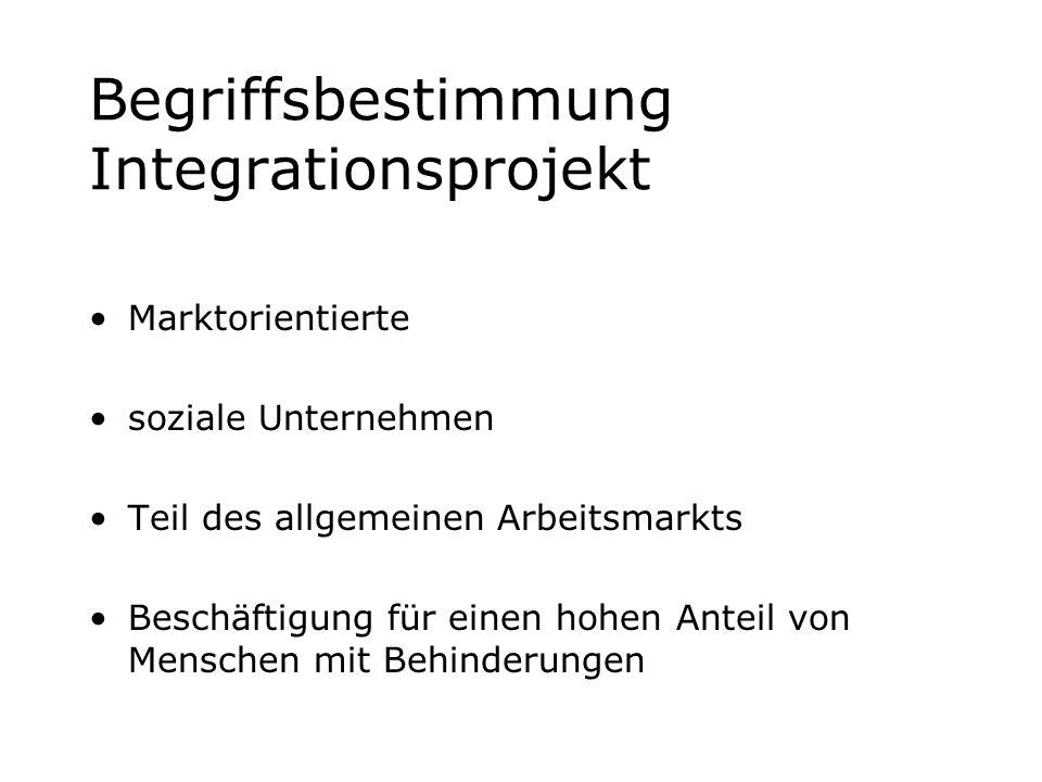 Begriffsbestimmung Integrationsprojekt