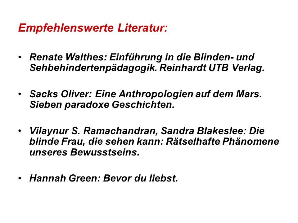 Empfehlenswerte Literatur:
