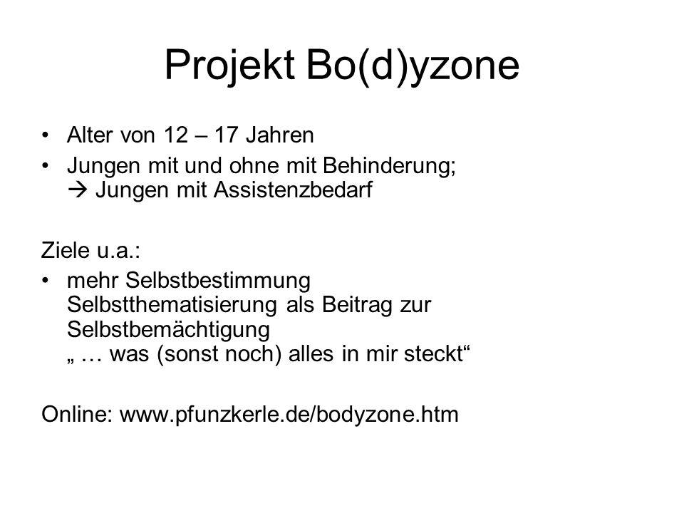 Projekt Bo(d)yzone Alter von 12 – 17 Jahren