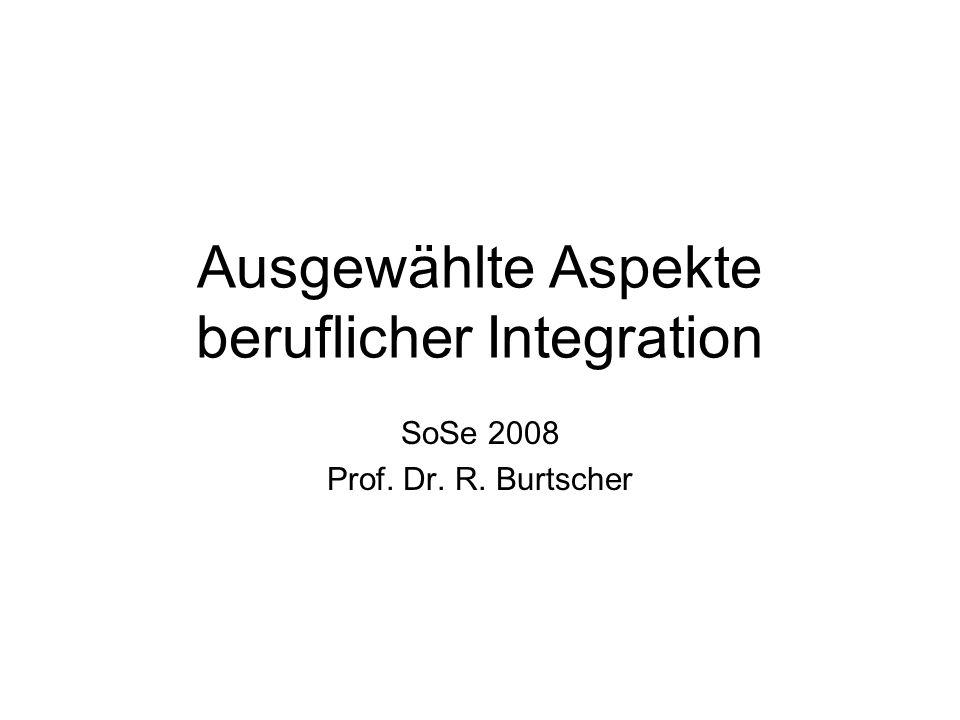 Ausgewählte Aspekte beruflicher Integration