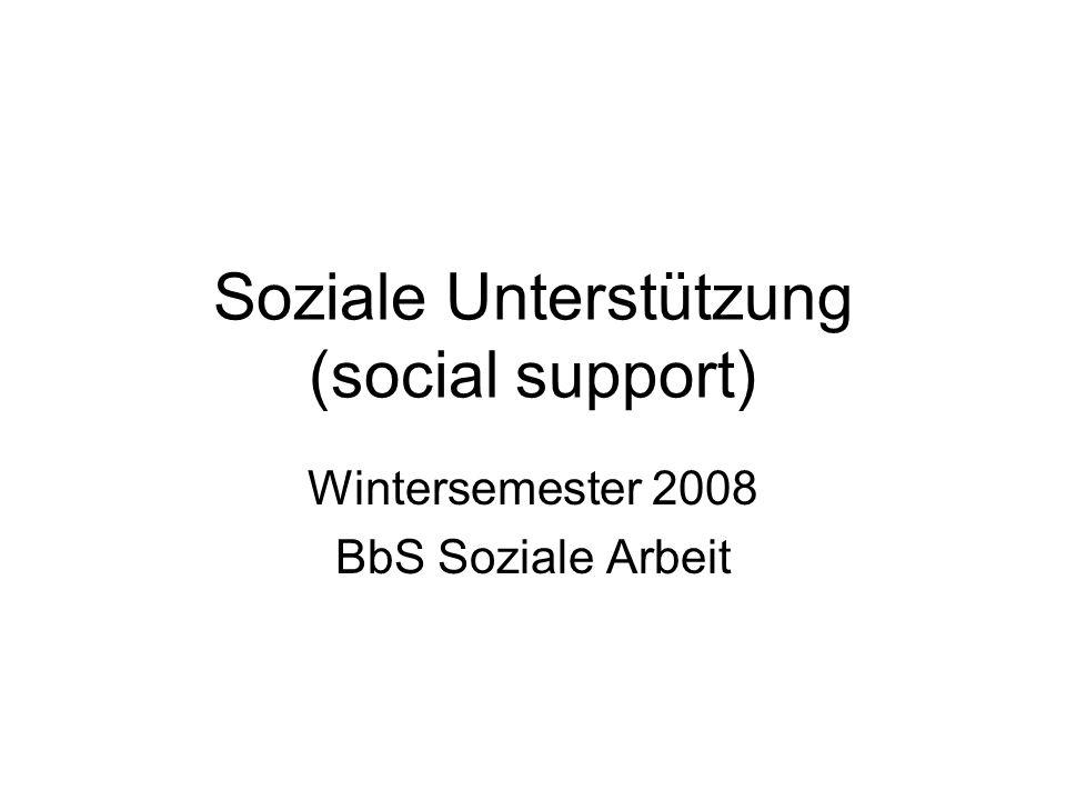 Soziale Unterstützung (social support)