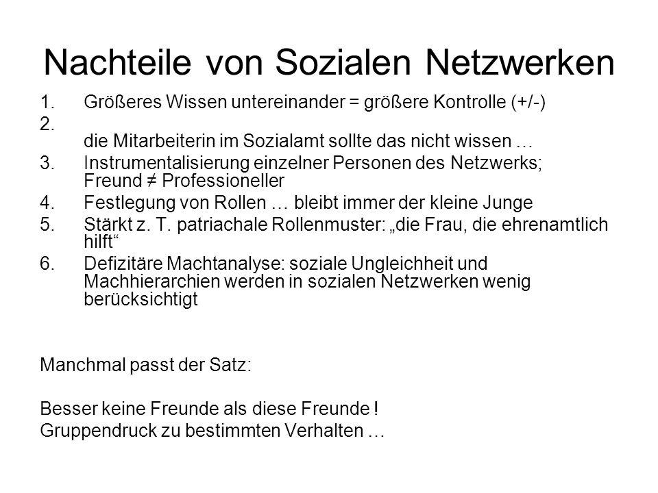 Nachteile von Sozialen Netzwerken