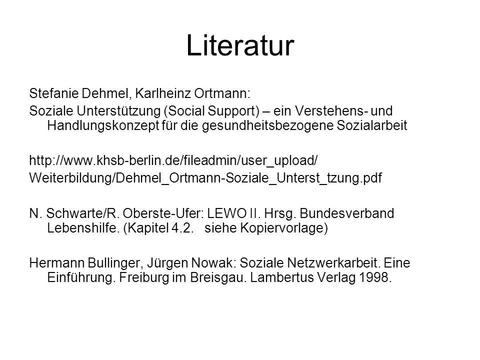 Literatur Stefanie Dehmel, Karlheinz Ortmann: