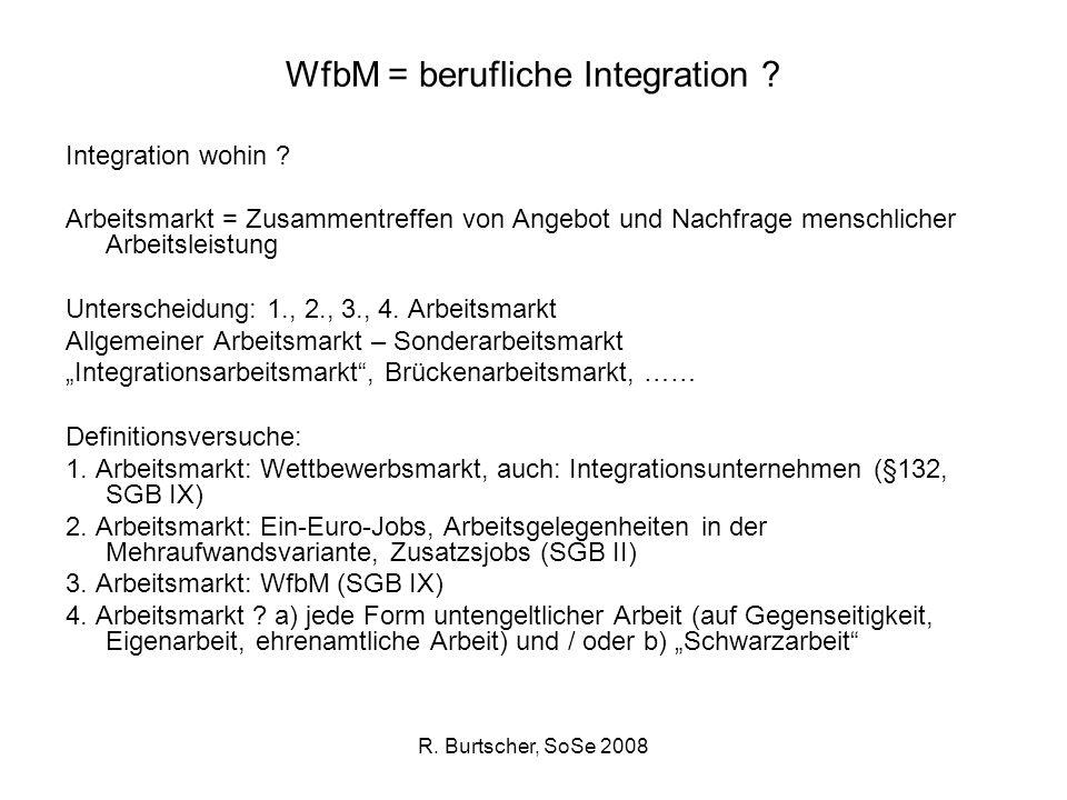 WfbM = berufliche Integration
