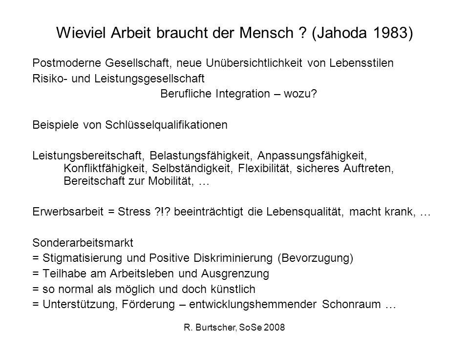 Wieviel Arbeit braucht der Mensch (Jahoda 1983)