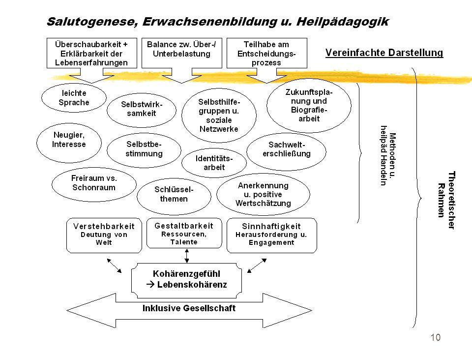 Salutogenese, Erwachsenenbildung u. Heilpädagogik