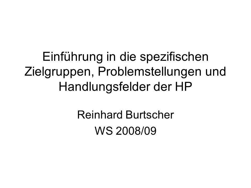Reinhard Burtscher WS 2008/09