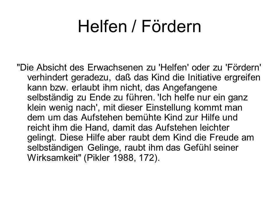 Helfen / Fördern