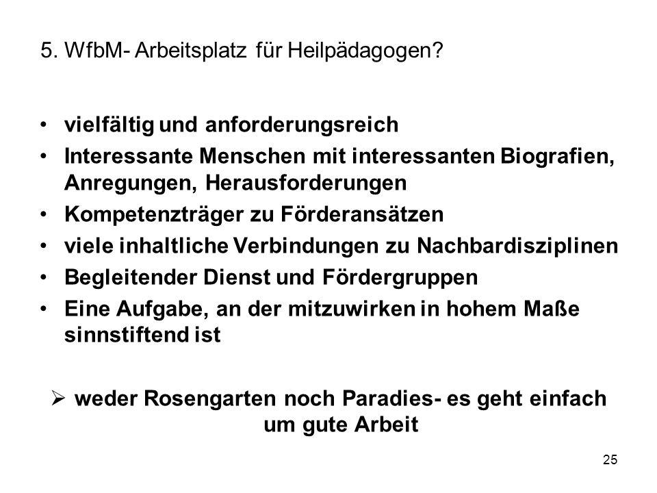 5. WfbM- Arbeitsplatz für Heilpädagogen