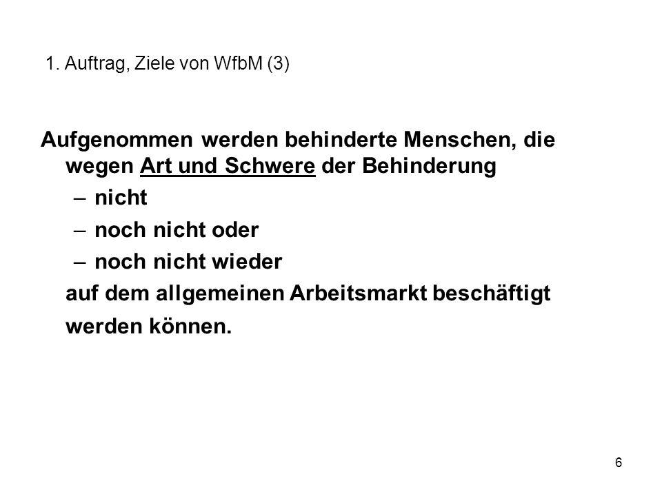 1. Auftrag, Ziele von WfbM (3)