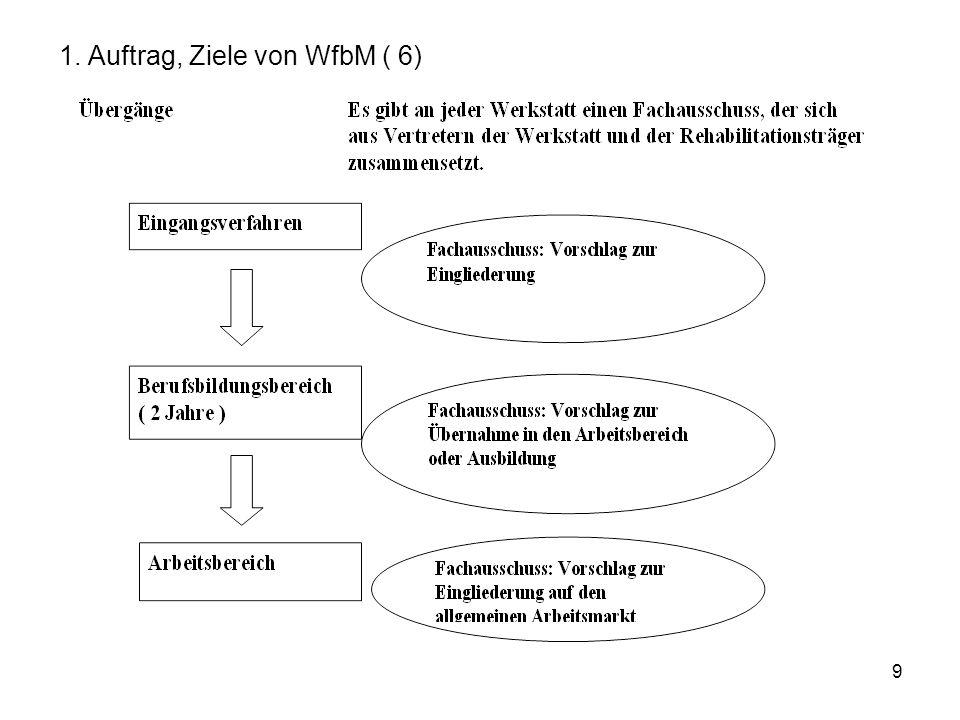 1. Auftrag, Ziele von WfbM ( 6)