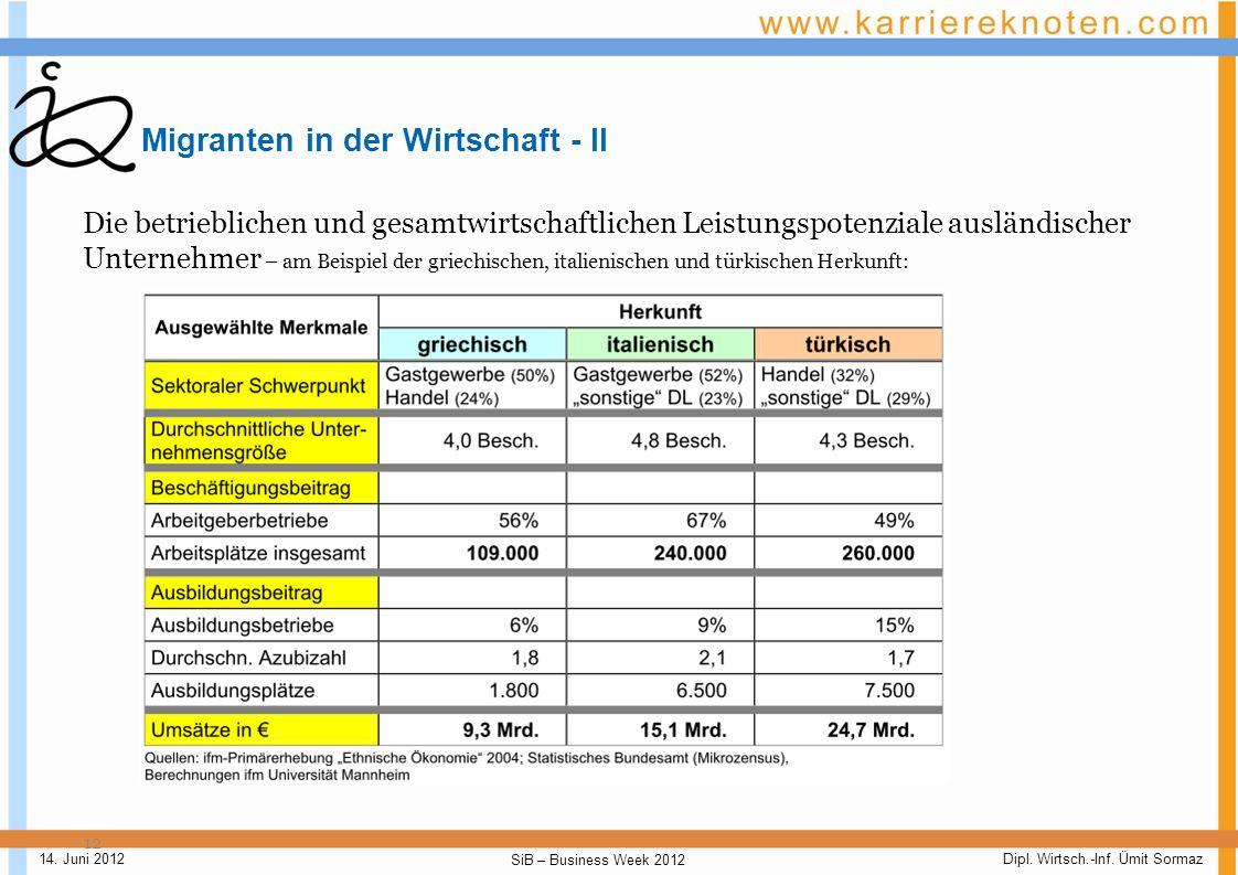 Migranten in der Wirtschaft - II