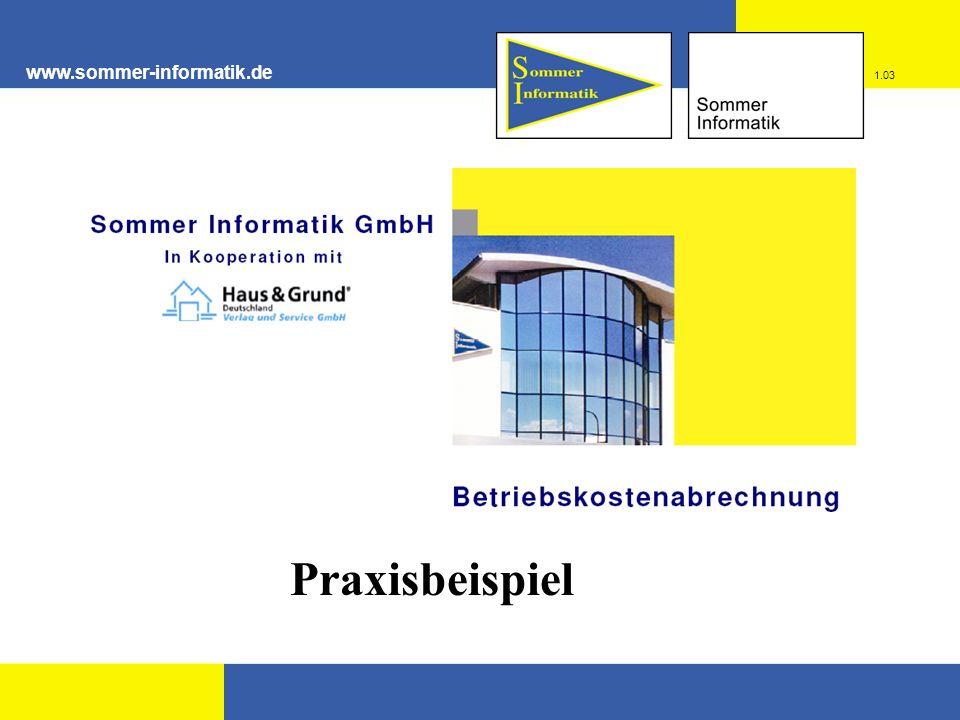 www.sommer-informatik.de 1.03 Praxisbeispiel