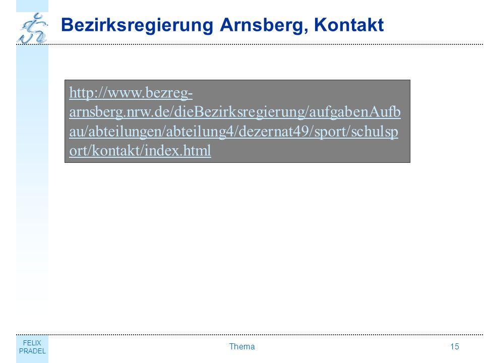 Bezirksregierung Arnsberg, Kontakt