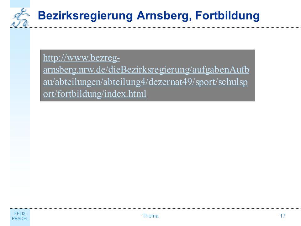 Bezirksregierung Arnsberg, Fortbildung