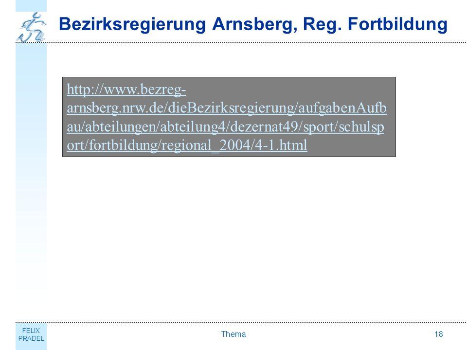 Bezirksregierung Arnsberg, Reg. Fortbildung