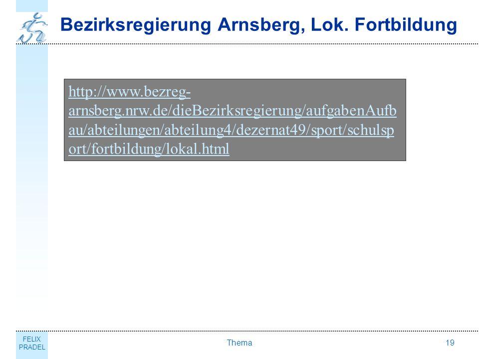 Bezirksregierung Arnsberg, Lok. Fortbildung