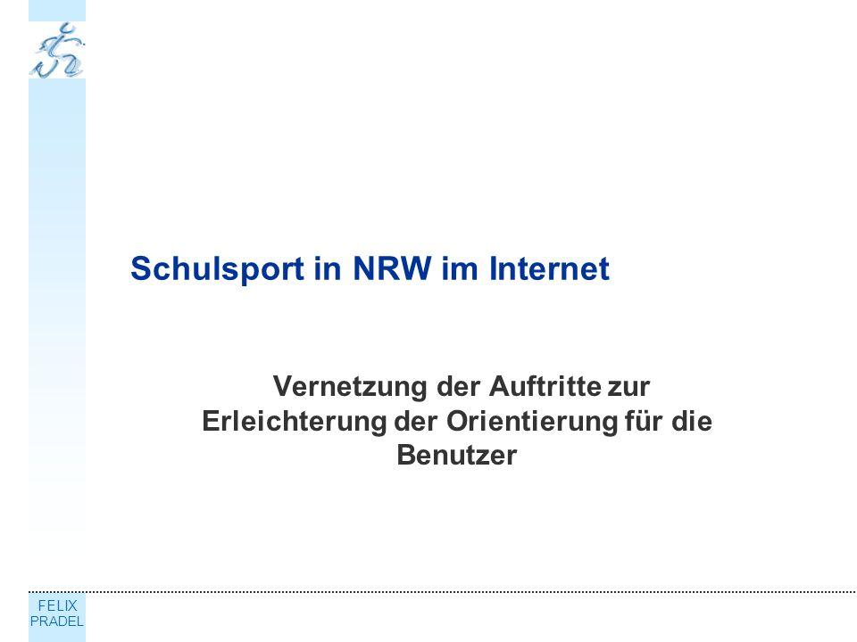 Schulsport in NRW im Internet