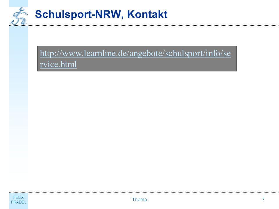 Schulsport-NRW, Kontakt