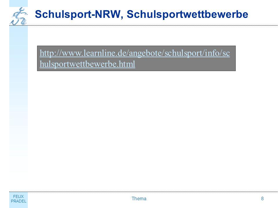 Schulsport-NRW, Schulsportwettbewerbe