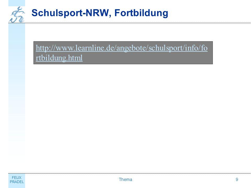 Schulsport-NRW, Fortbildung