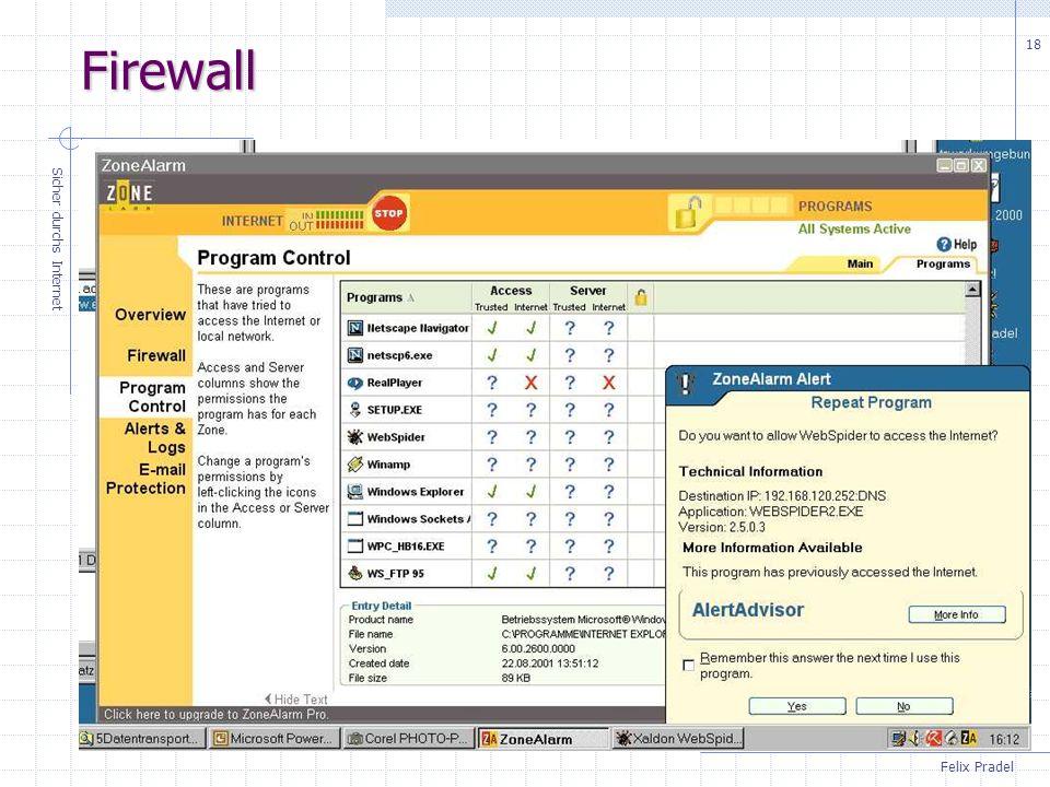 Firewall Sicher durchs Internet
