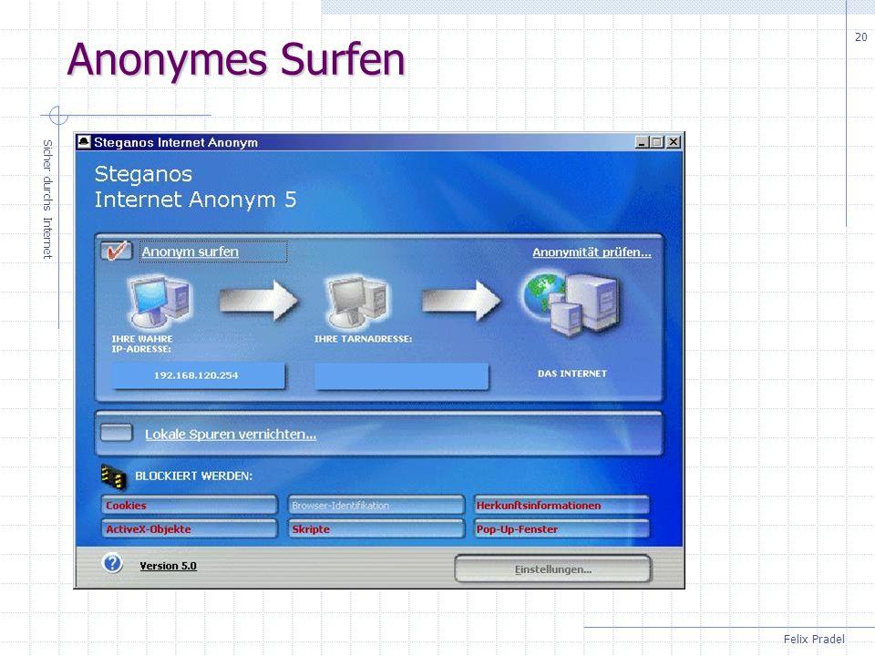 Anonymes Surfen Sicher durchs Internet