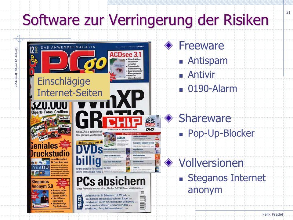 Software zur Verringerung der Risiken