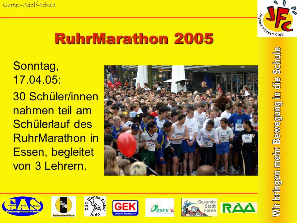 RuhrMarathon 2005 Sonntag, 17.04.05: