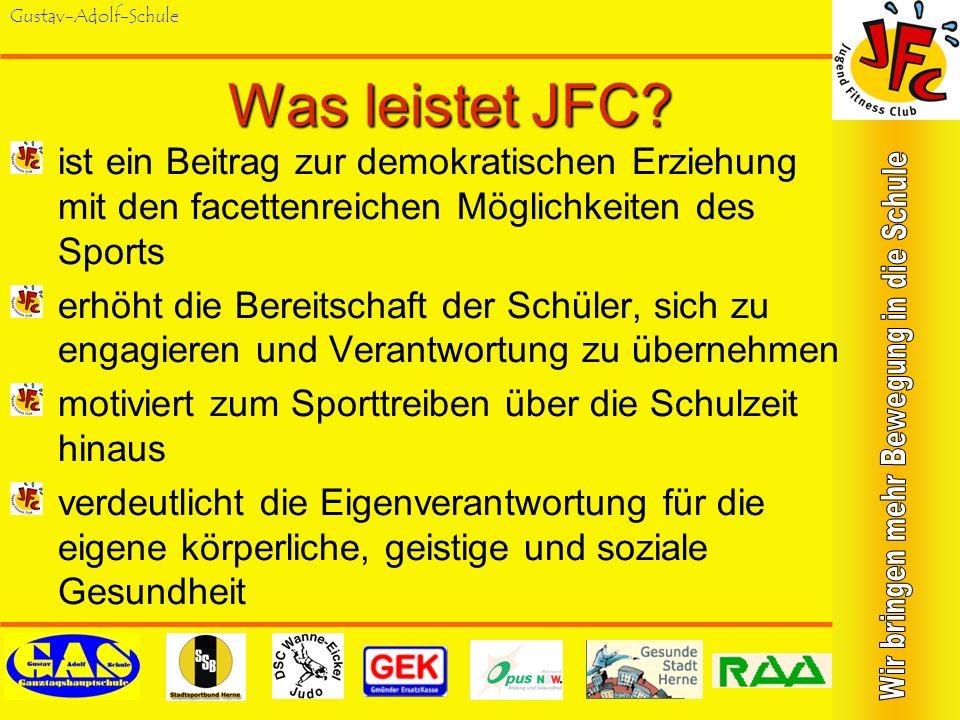 Was leistet JFC ist ein Beitrag zur demokratischen Erziehung mit den facettenreichen Möglichkeiten des Sports.