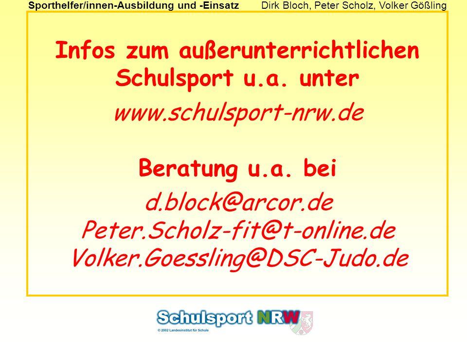 Infos zum außerunterrichtlichen Schulsport u. a. unter www
