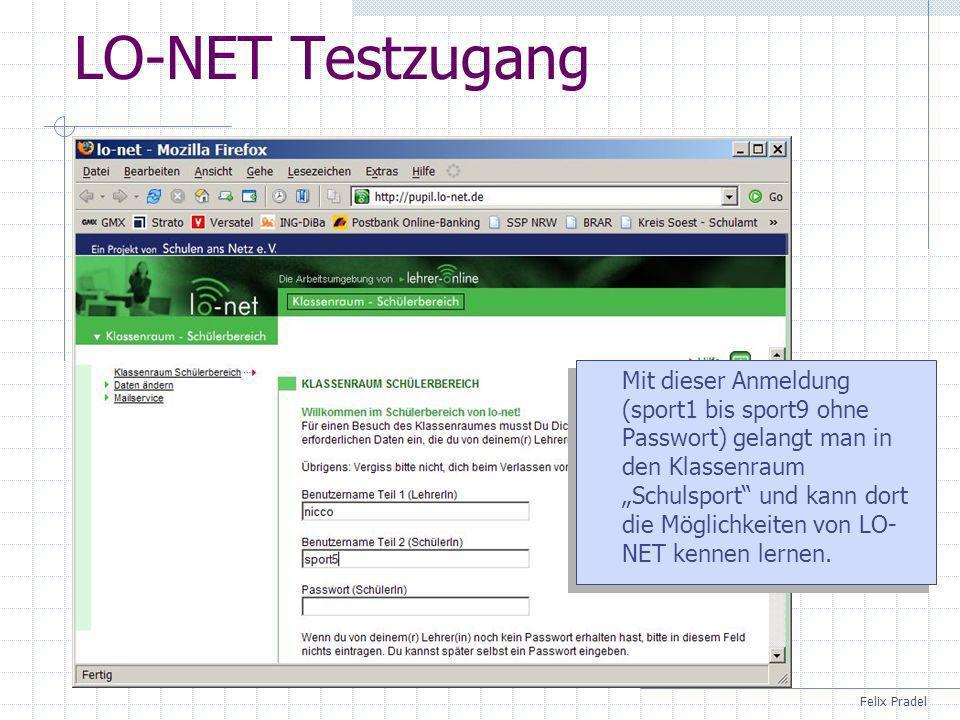 LO-NET Testzugang