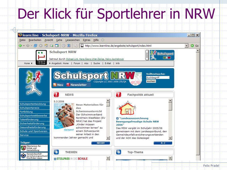 Der Klick für Sportlehrer in NRW