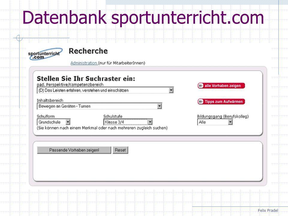 Datenbank sportunterricht.com