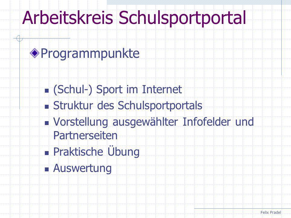 Arbeitskreis Schulsportportal