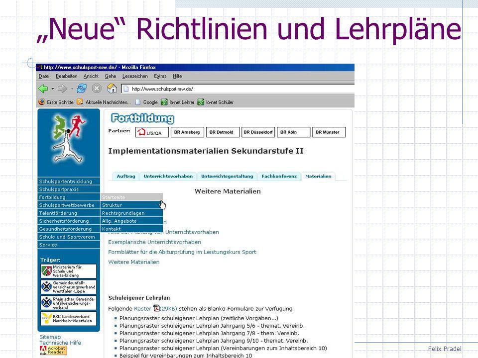 """""""Neue Richtlinien und Lehrpläne"""
