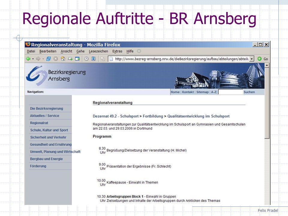 Regionale Auftritte - BR Arnsberg
